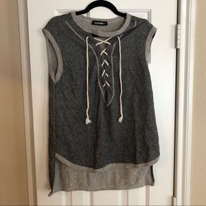 Never Worn | Lace Up Sweater Top